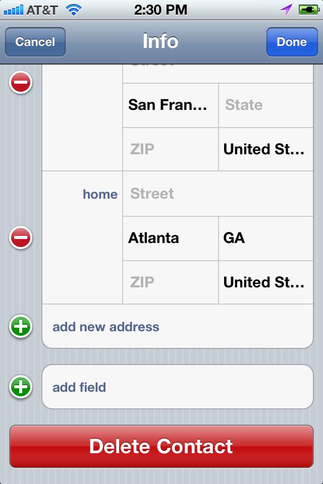 ABPersonViewController+Delete screenshot
