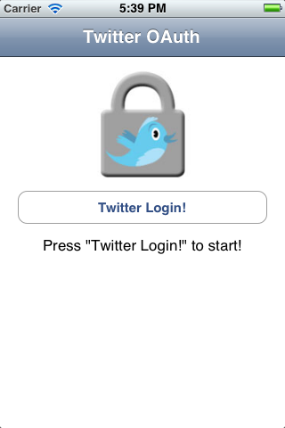 DMTwitterOAuth screenshot