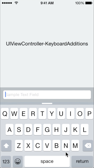 UIViewController+KeyboardAdditions screenshot