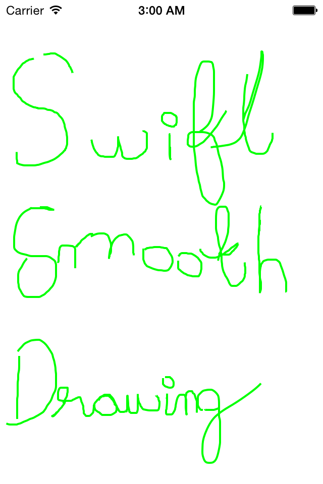 SmoothDrawingView-Swift screenshot