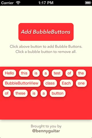 BubbleButtonView screenshot