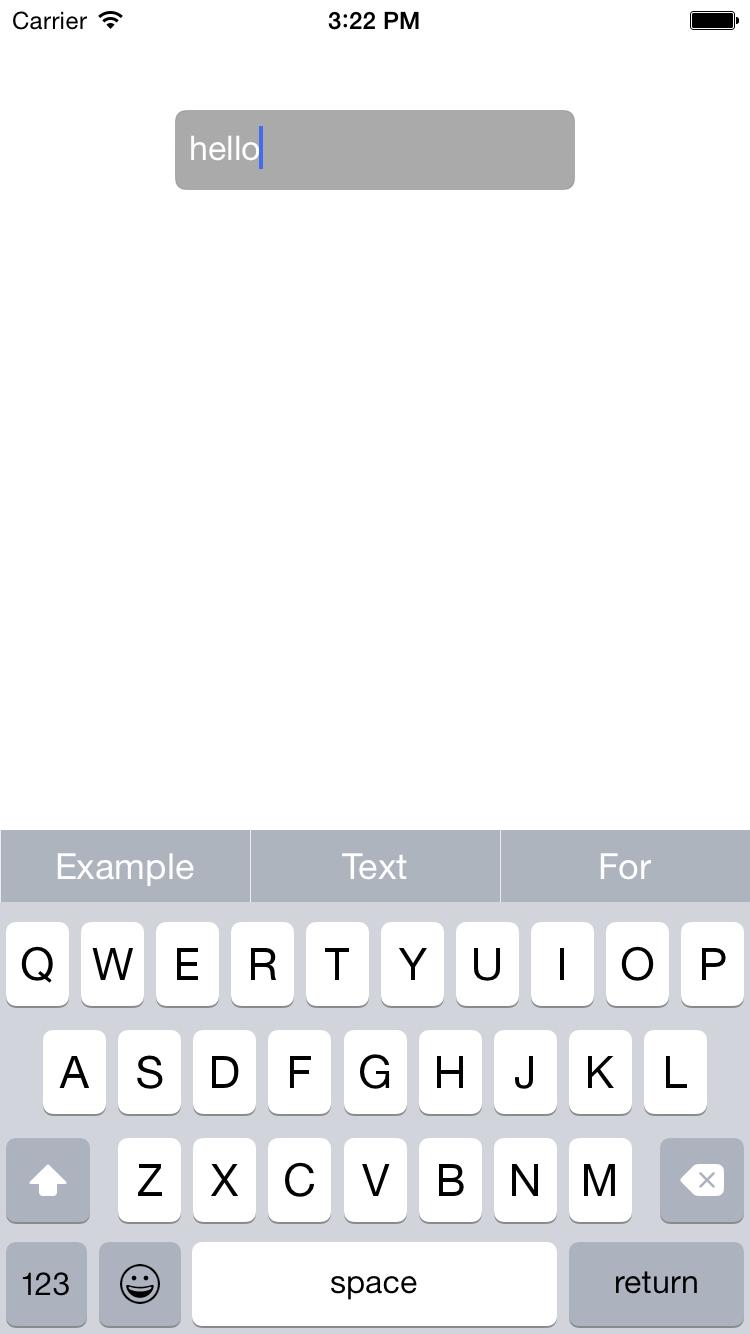 BSWQuickType screenshot