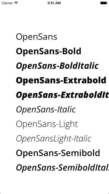 OpenSansSwift screenshot