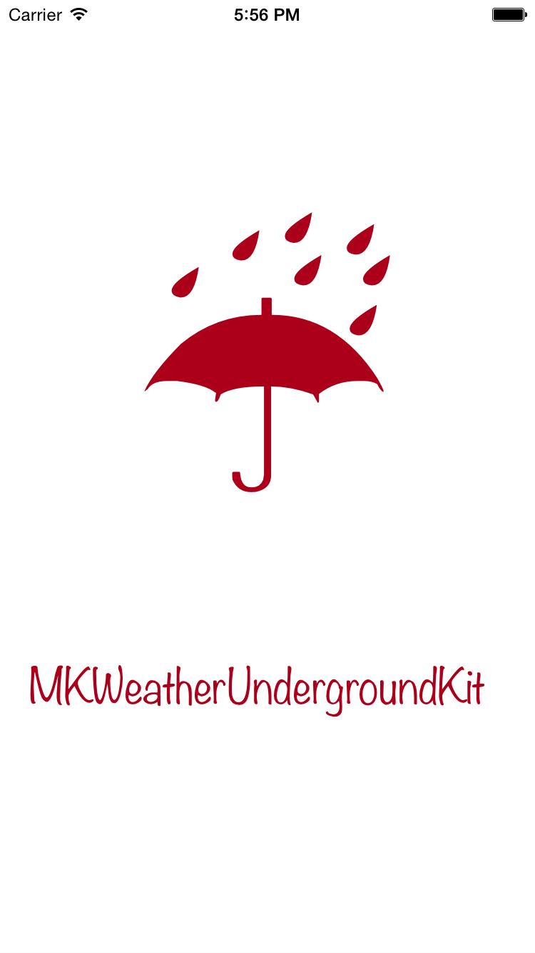 MKWeatherUndergroundKit screenshot