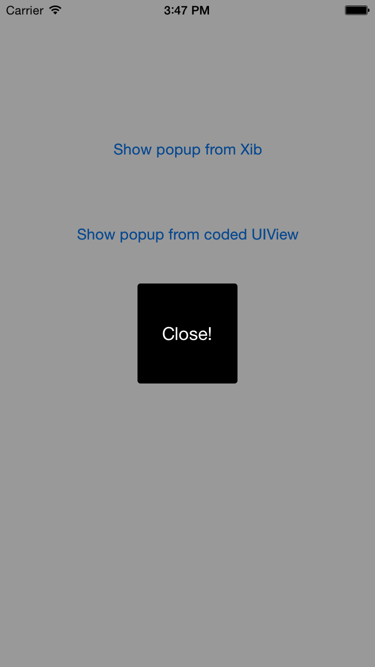 PopupContainer (Swift) screenshot