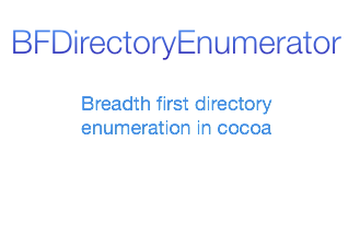 BFDirectoryEnumerator screenshot