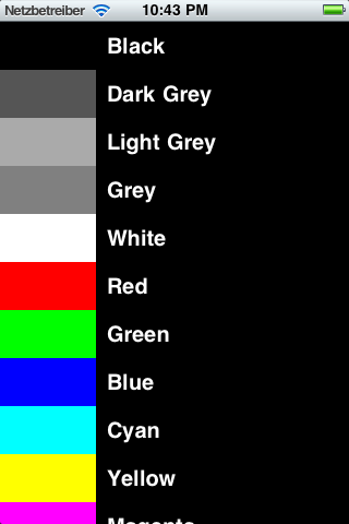 PresetColorPicker screenshot