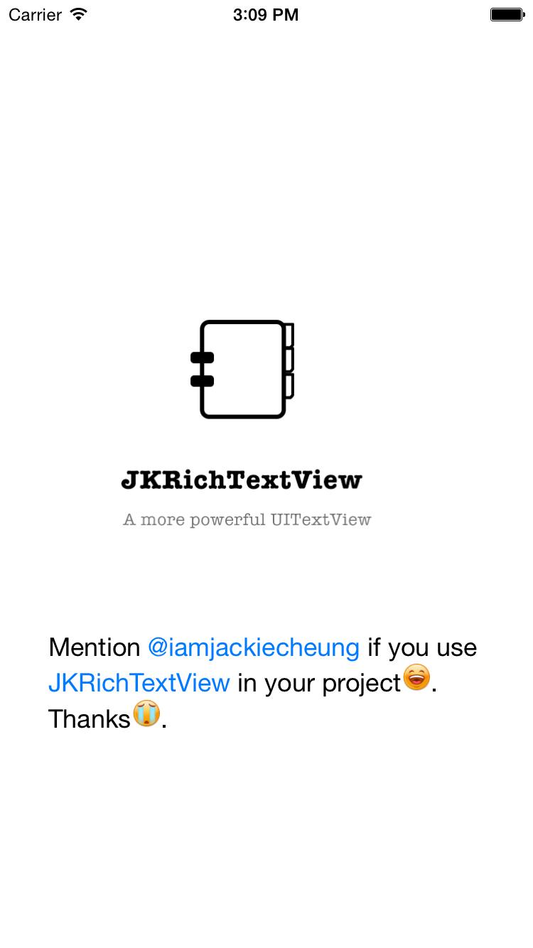 JKRichTextView screenshot