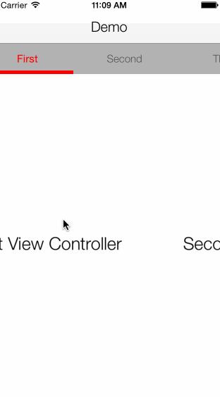 SlidingContainerViewController screenshot