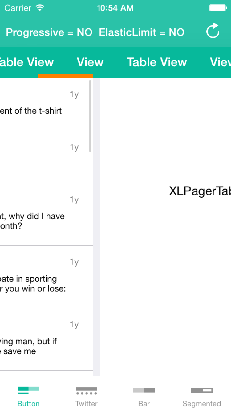 XLPagerTabStrip screenshot