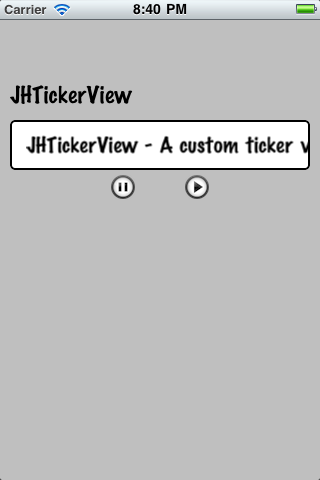 JHTickerView screenshot