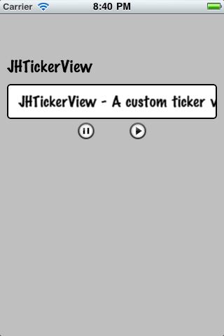 JHTickerView screenshot