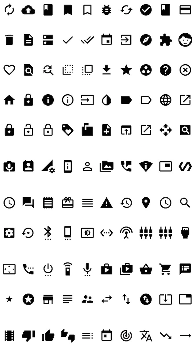MaterialDesignSymbol / Icon font library / Google Material Design Icons for Swift screenshot