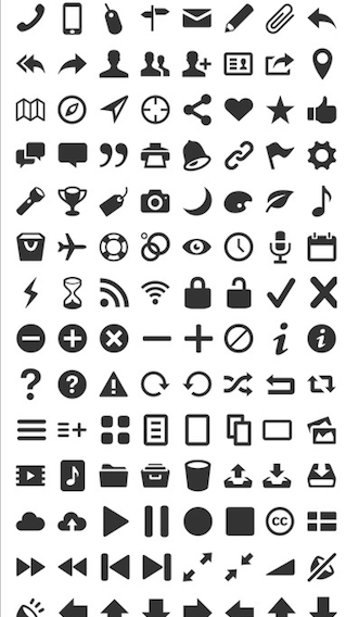 EntypoSymbol / Icon font library for Swift. Currently supports Entypo screenshot