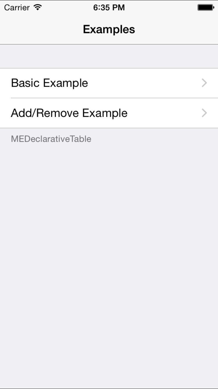 MEDeclarativeTable screenshot