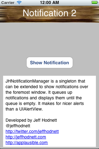 JHNotificationManager screenshot