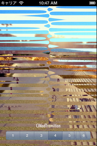 CoreImageTransition screenshot