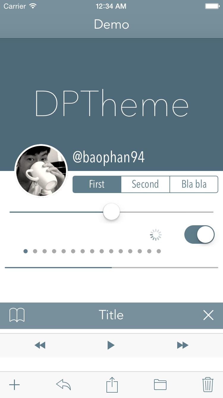DPTheme screenshot