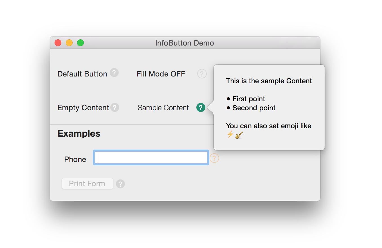 InfoButton screenshot