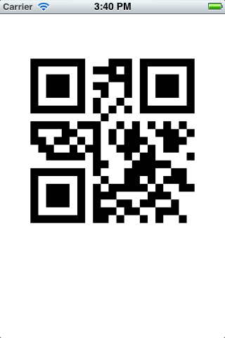 iOS QR encoder screenshot