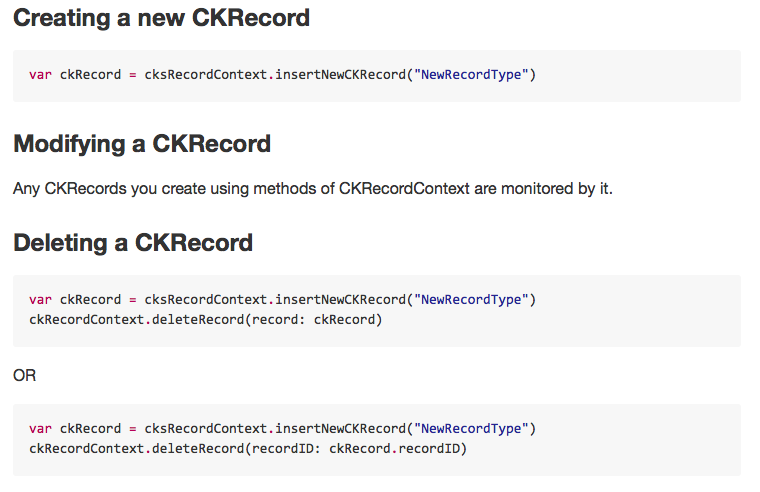 CKSRecordContext screenshot