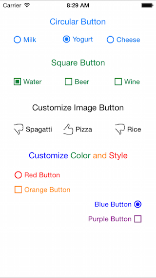 DLRadioButton screenshot