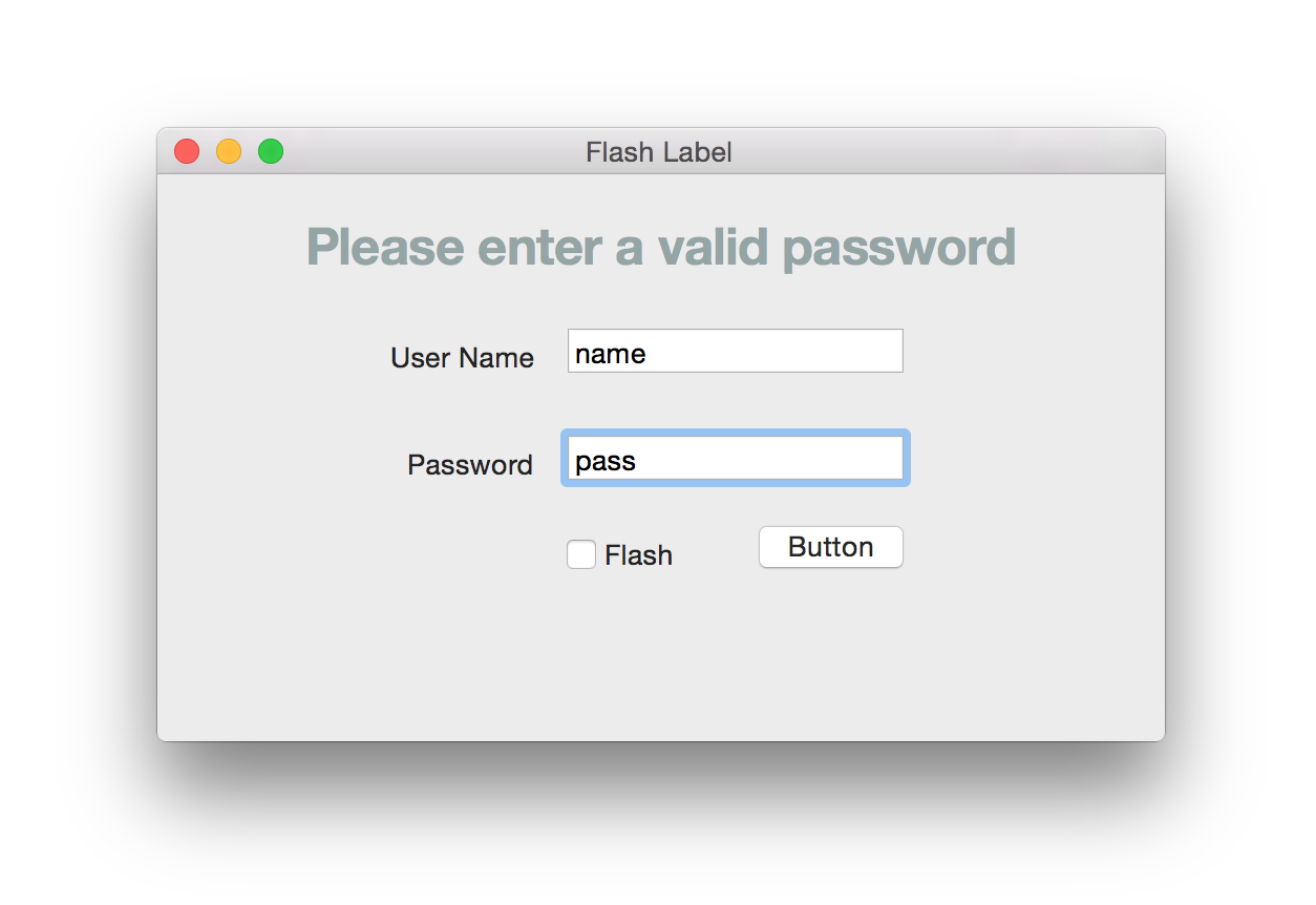 FlashLabel screenshot