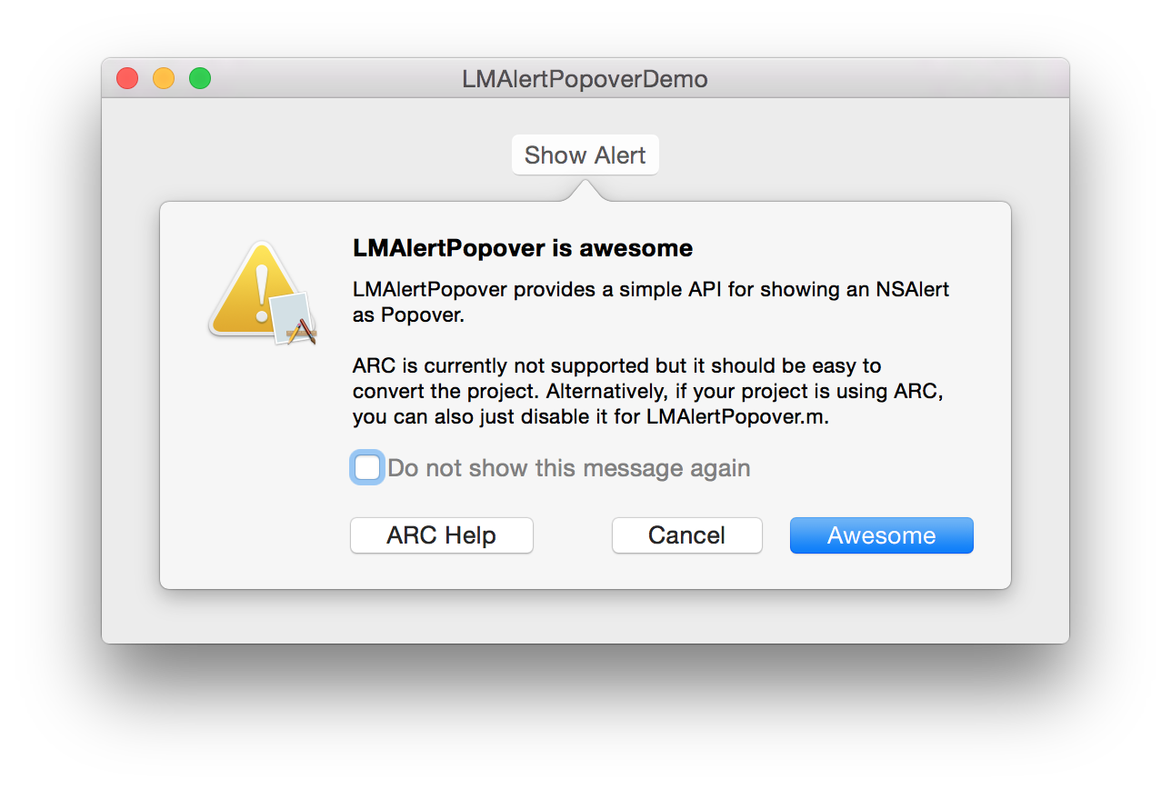 LMAlertPopover screenshot