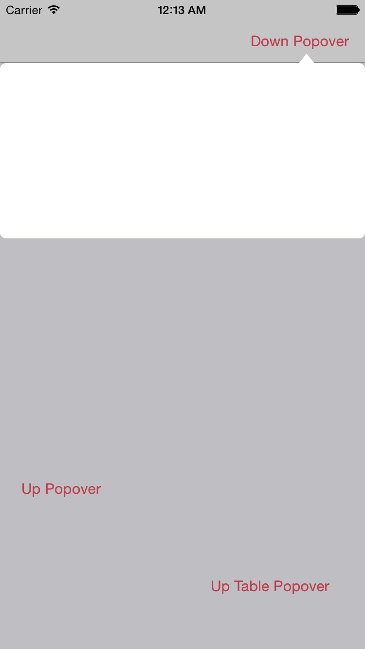 Popover screenshot