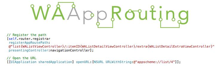 WAAppRouting screenshot