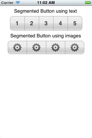 Segmented Buttons screenshot