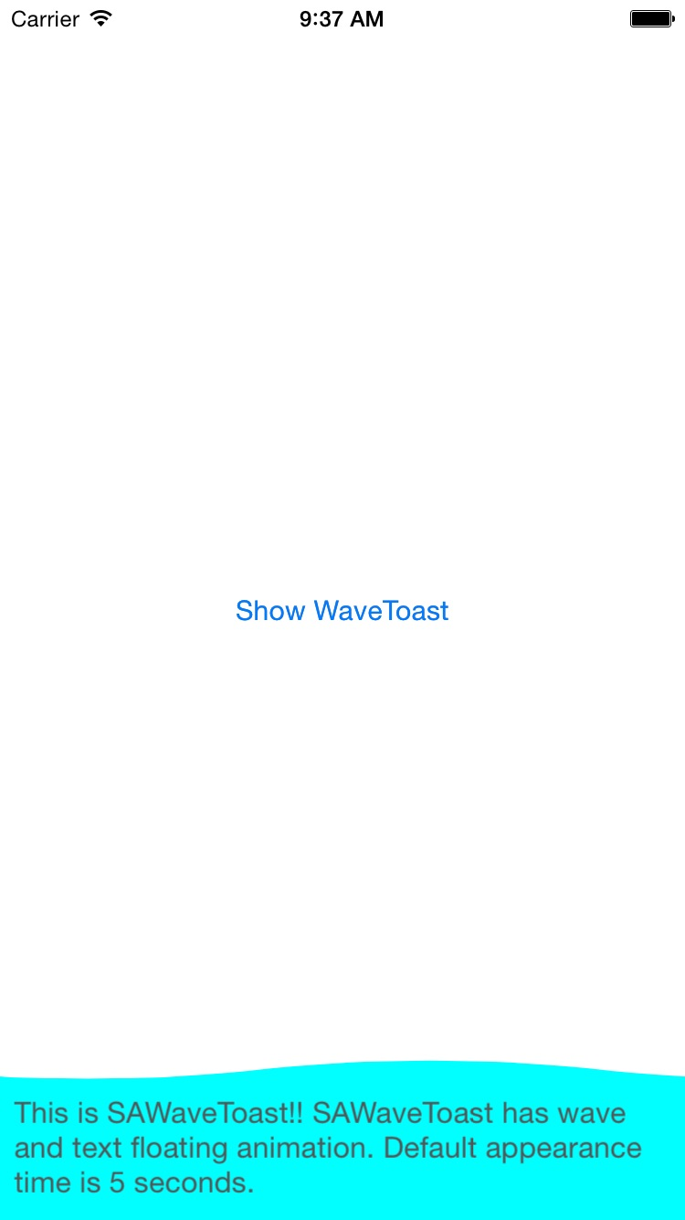 SAWaveToast screenshot