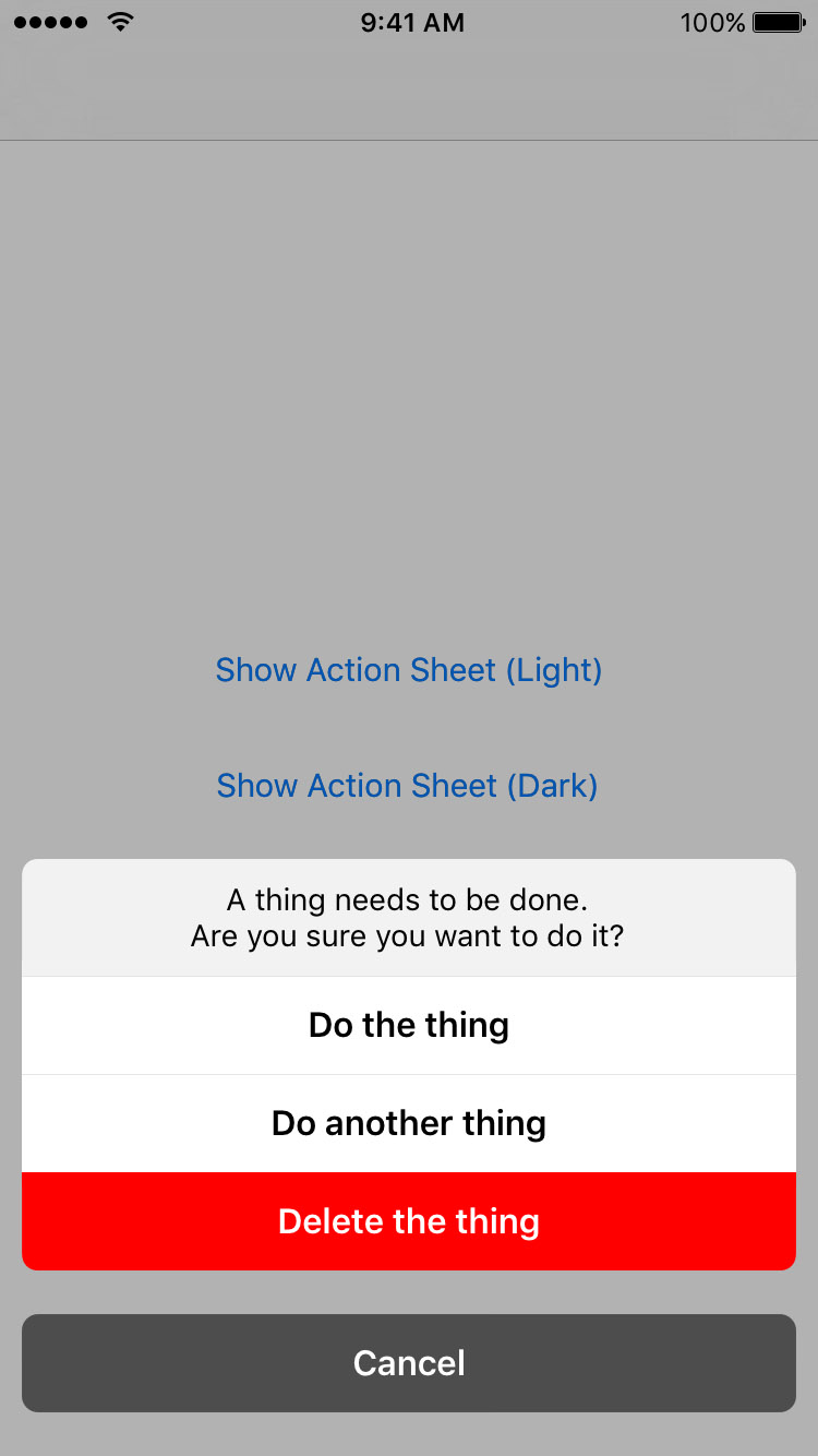 TOActionSheet screenshot