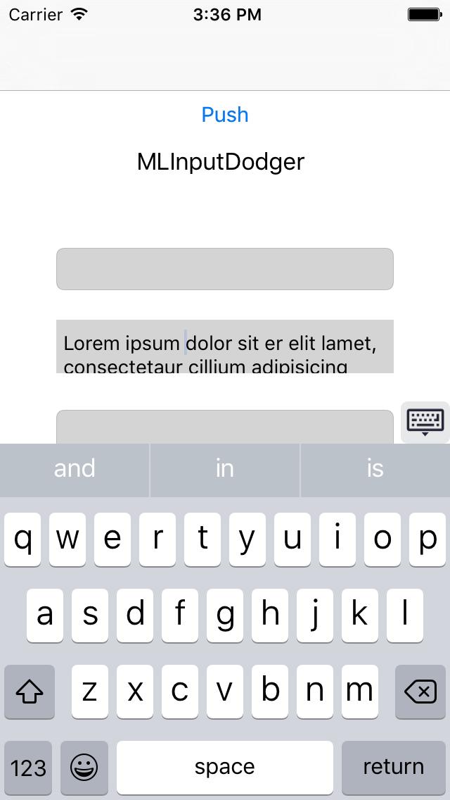 MLInputDodger screenshot