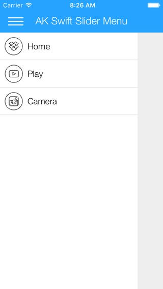 AKSwiftSlideMenu screenshot