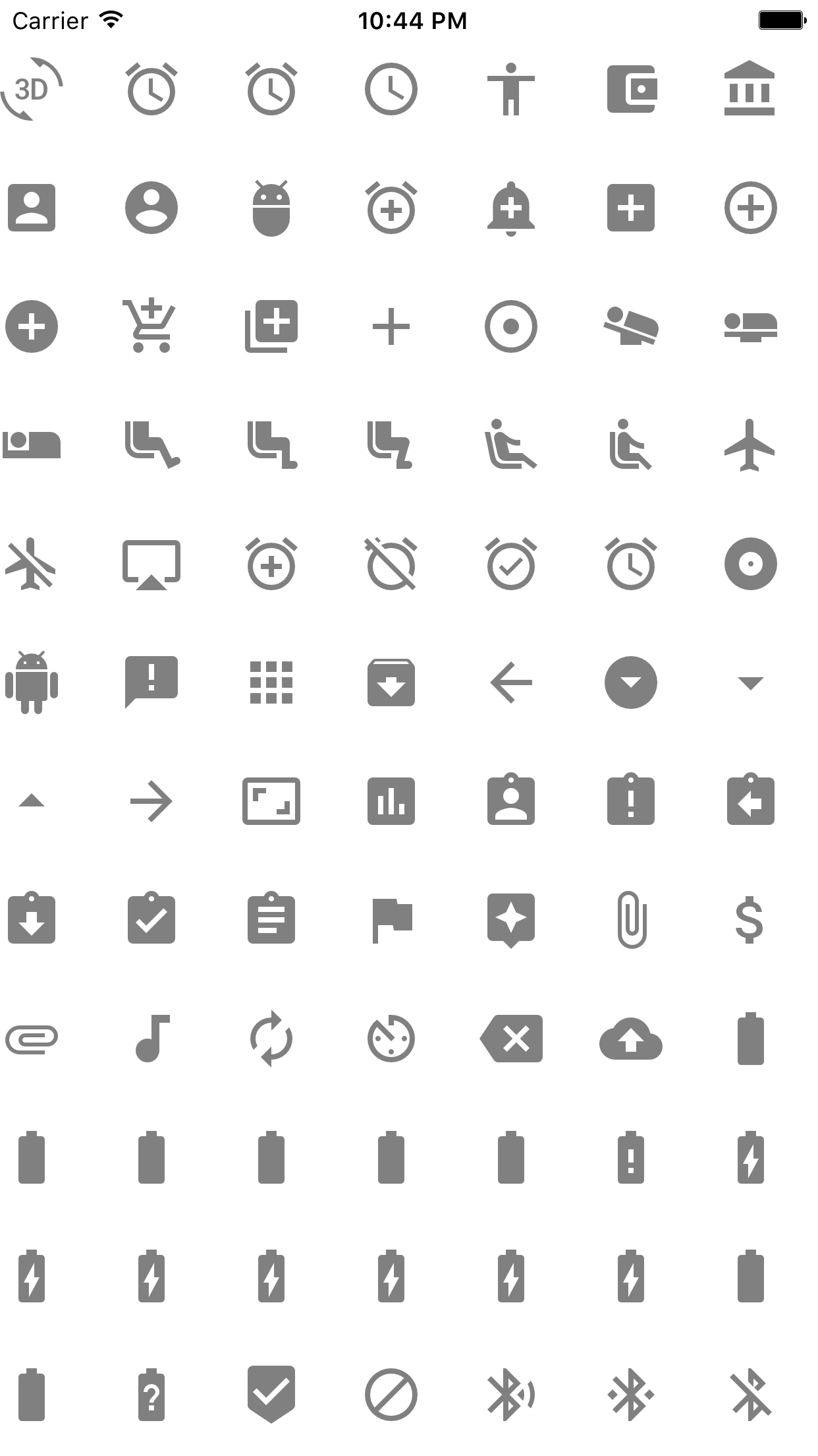 GoogleMaterialIconFont screenshot