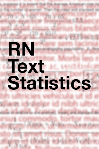 RNTextStatistics screenshot