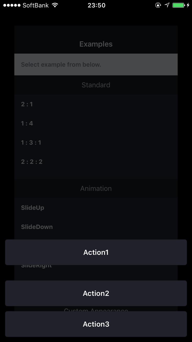 FloatingActionSheetController screenshot