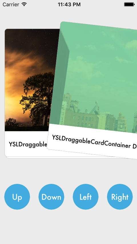 YSLDraggableCardContainer screenshot