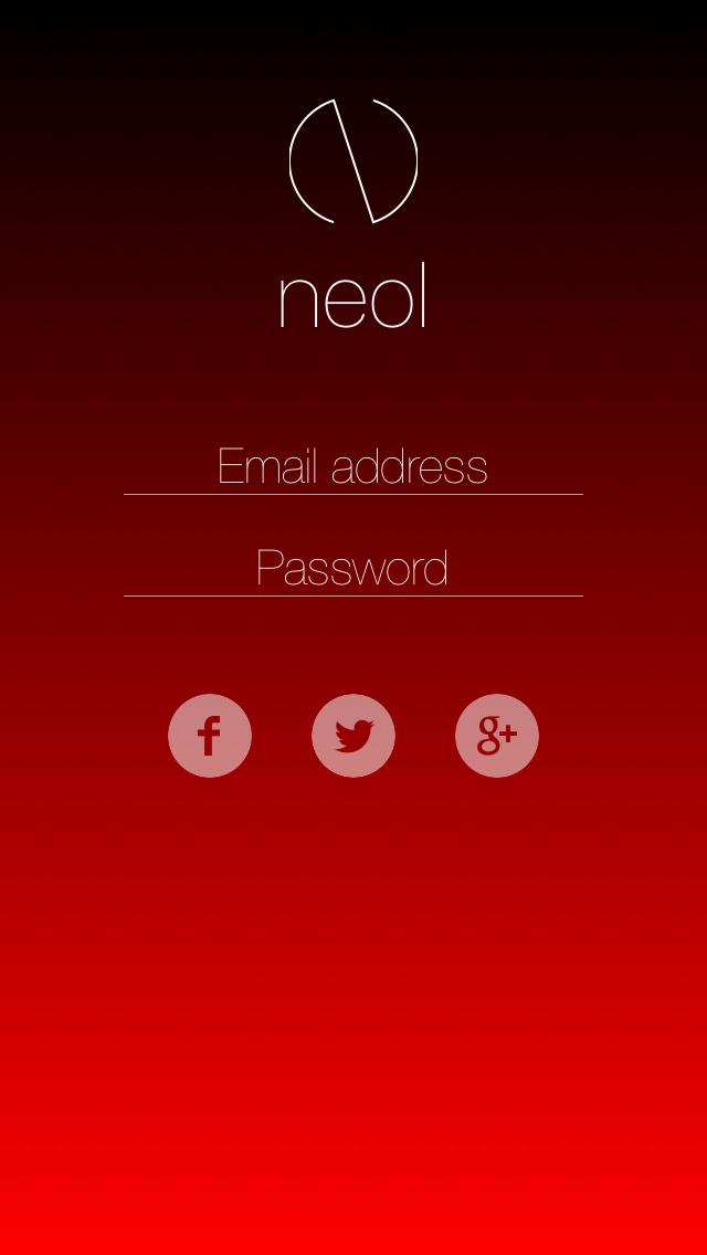 LoginScreen screenshot