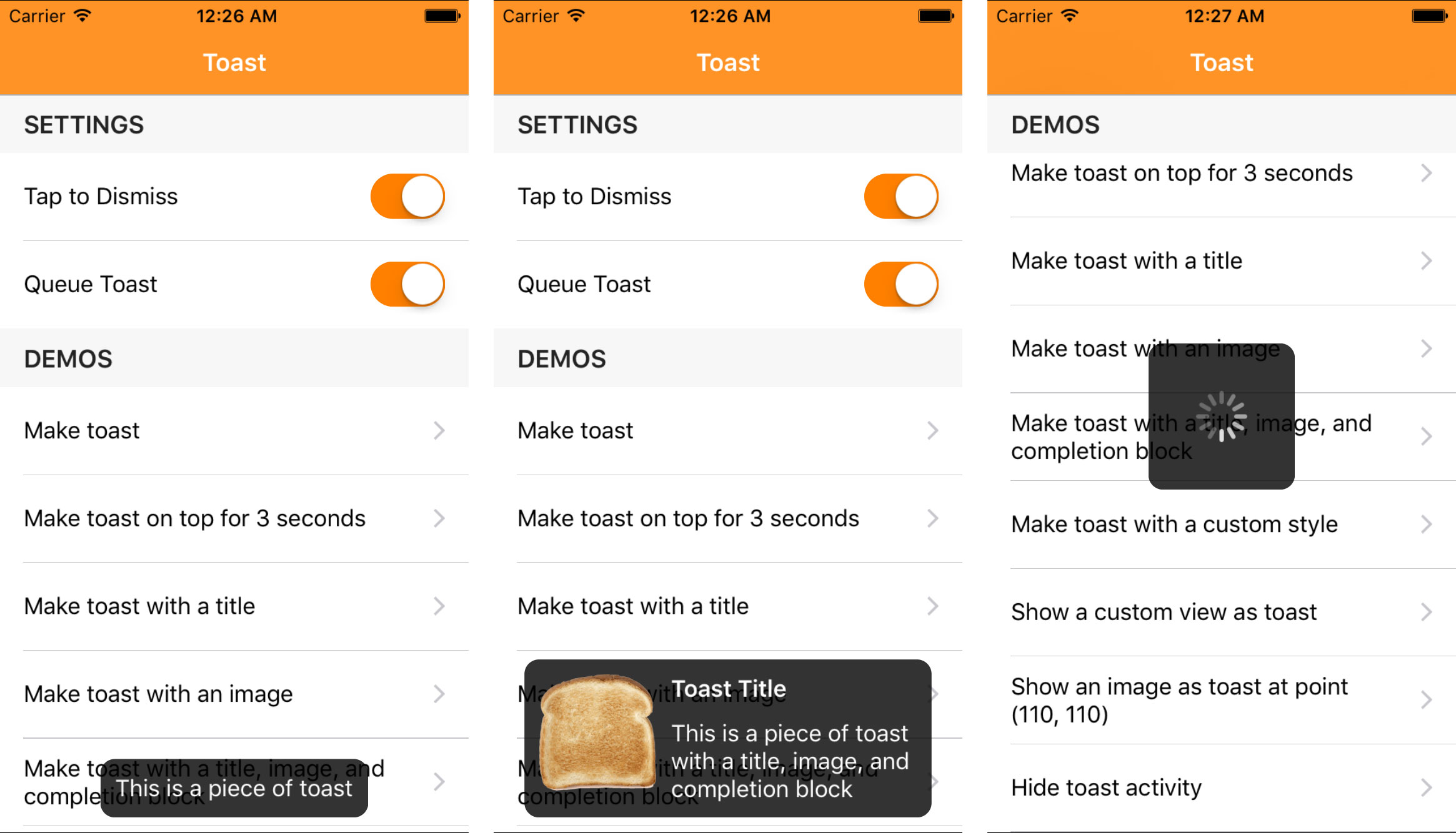 Toast for iOS - Cocoa Controls
