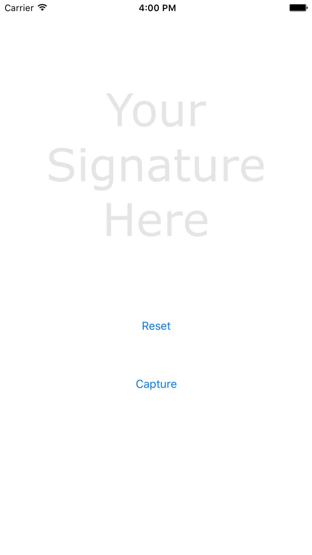 TESignatureView screenshot
