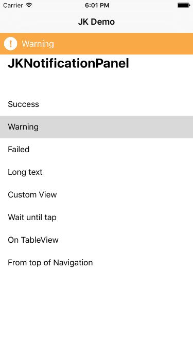 JKNotificationPanel screenshot