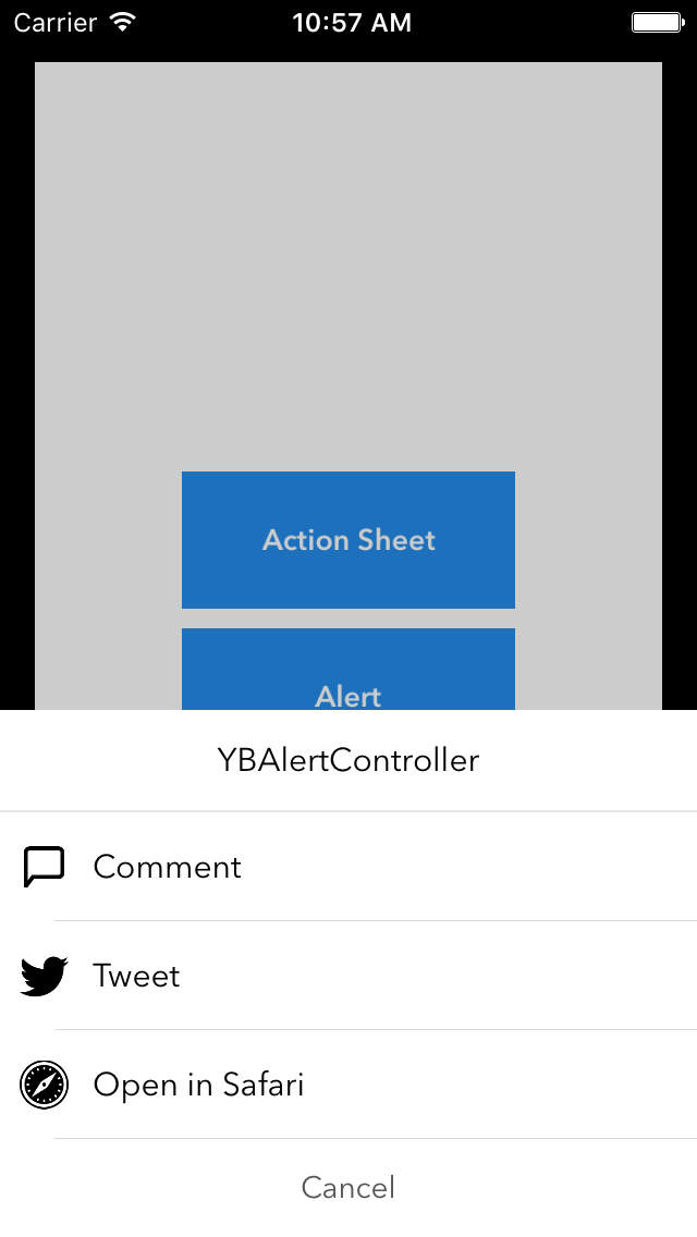 YBAlertController screenshot