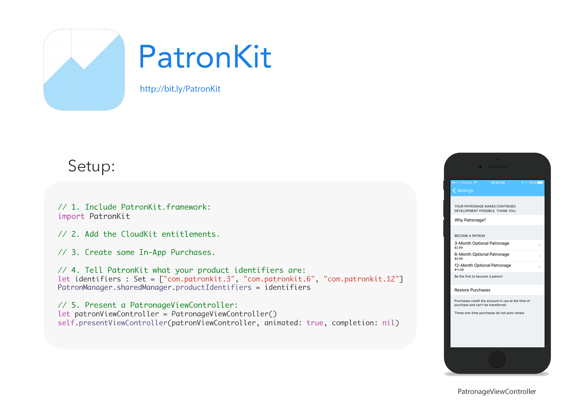 PatronKit screenshot