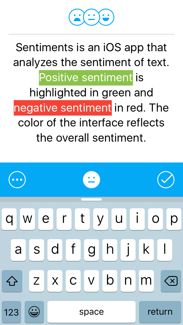 Sentiments screenshot