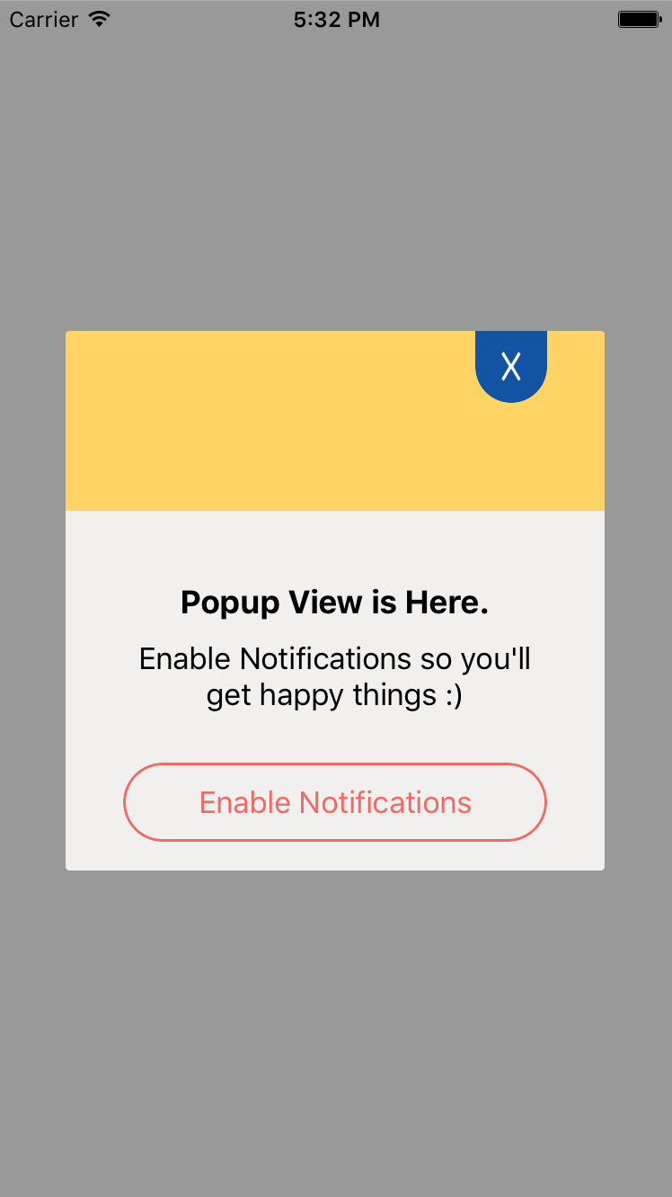 PopupController screenshot