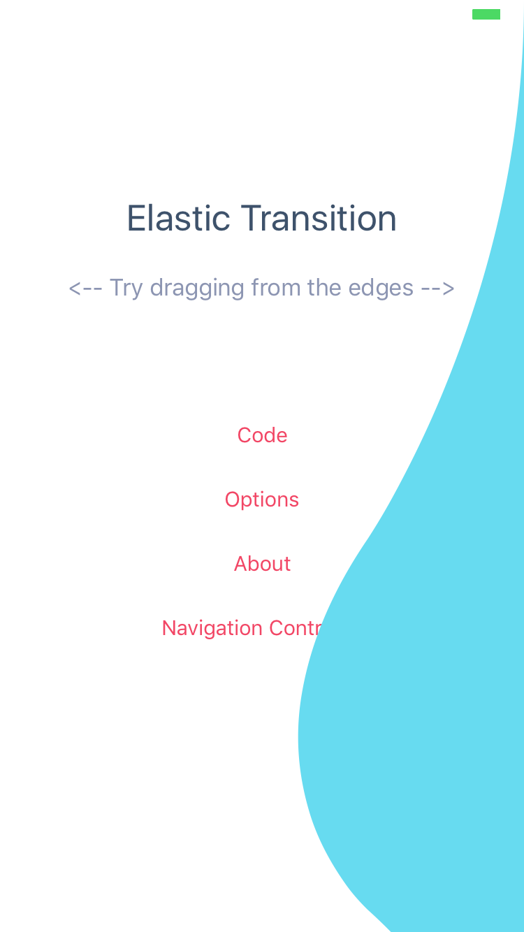 ElasticTransition ObjC Version screenshot
