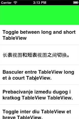 ZGPullDragTableView screenshot