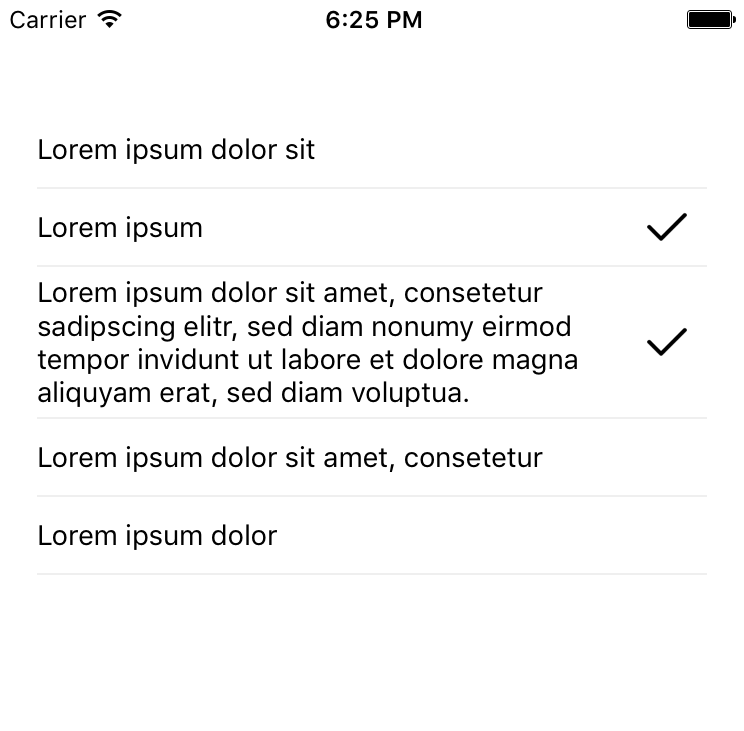react-native-multiple-choice screenshot